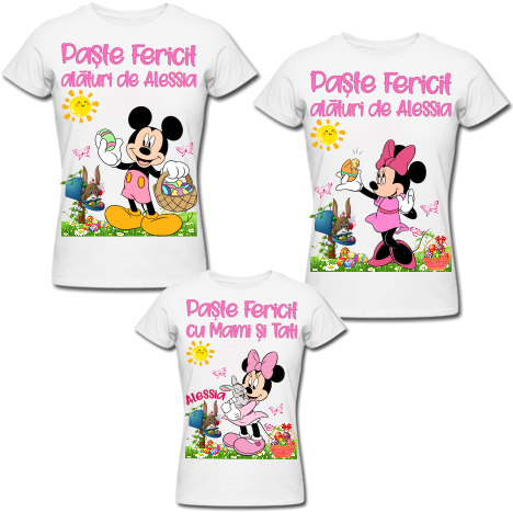 SET PERSONALIZAT CUTE EASTER-PINK 2AD+1COPIL