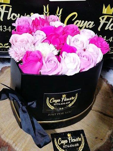 Cadou flori de sapun inima mare